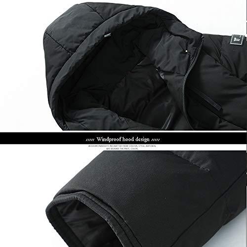 Invernale Per Usb Riscaldato black Giacca Motocicletta Black Da Lo 3xl Uomo Piumino Sci 4xl Intelligente L'alpinismo La Calda Cappuccio Con wYEvqqR