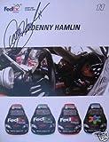 Signed Denny Hamlin Photograph - FEDEX RACING 8x10 COA - PSA/DNA Certified - Autographed Photos