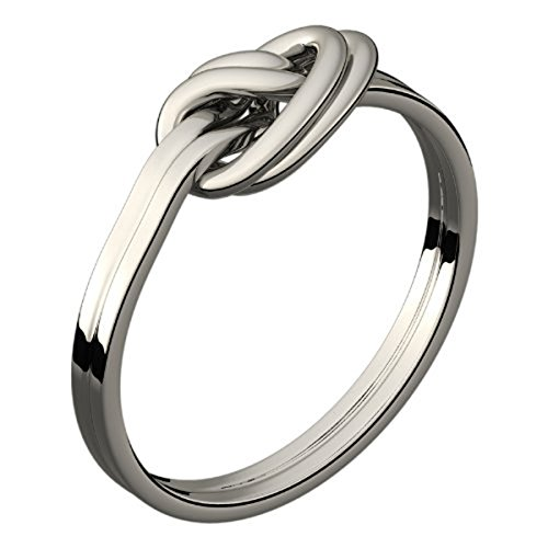 UPCO Womens Silver Plated Celtic Double Love Knot Ring Symbolizes Unity and Protection - 5