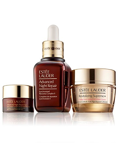 (Estee Lauder Advanced Night Repair Synchronized Recovery Complex II, 1 oz, Eye Supercharged Complex .17 oz. Revitalizing Supreme+ 0.5 oz, Set)