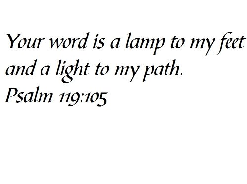 Bible Verse Light To My Path in US - 3