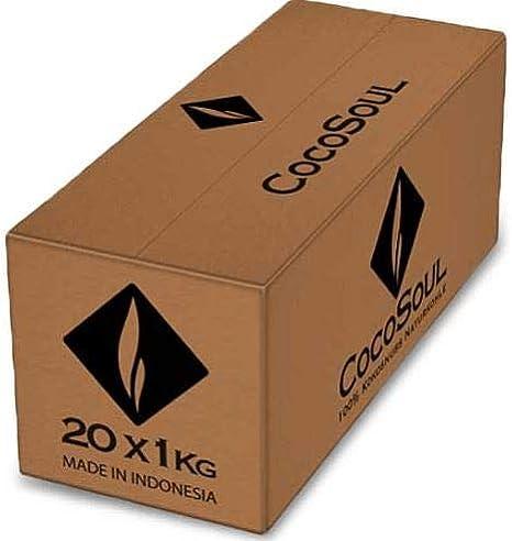 Premium Kokosnuss Naturkohle f/ür Shisha /& BBQ Blackcocos BLACKCOCO?s Gastro 5KG Shisha Kohle