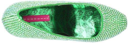 Pleaser Eu-Tee06R/Iri - Zapatos de tacón para mujer Green Satin-Irid RS