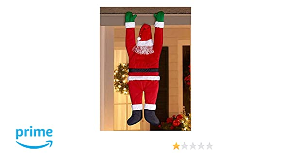 777d4d6ad86 Amazon.com  Christmas Hanging Santa Suit from on The Gutter Roof Outdoor  Decoration Big 5FT  Garden   Outdoor