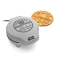 ThinkGeek Star Wars Death Star Waffle Maker - Perfect for All Your Evil Waffle Needs - Produces a 7-Inch Diameter Round Waffle with 2 Sections