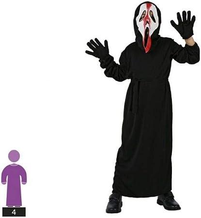 Atosa-98318 Disfraz Fantasma, color negro, 5 a 6 años (98318 ...