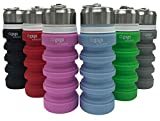 Collapsible Water Bottle & Convenient Clip | Perfect for Outdoor & Travel |