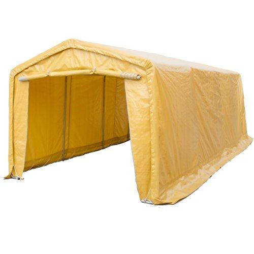Portable Storage Shelter (SNAIL 10 X 20 ft Heavy Duty Waterproof Domain Carport, 10' x 20' Peak Style Portable Garage Storage Enclosed Canopy Auto Shelter 1-3/8