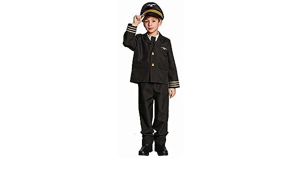 El pequeño tamaño piloto traje de los niños 116: Amazon.es ...