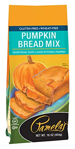 Pamela's Products Gluten Free Baking Mix, Pumpkin Bread, 16 Ounce ( Pack Of 6 ) ()