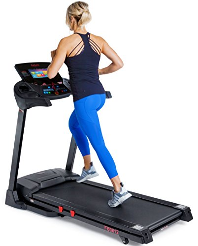 "fitbill B612 Smart Treadmill aerobic w 10"" Touch TFT Screen, WIFI and Fitness App"