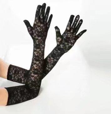 Handstulpen und Perlen Hochzeit Braut Handschuhe Fingerlos