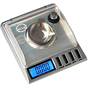 PoLLux GEM20 High Precision Portable Milligram Digital Pocket Scale 20 x 0.001g