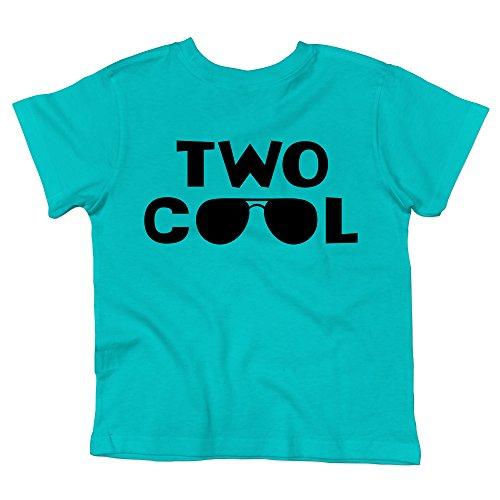 Olive Loves Apple 2nd Birthday Shirt Boys Two Cool Shirt for Boys 2nd Birthday Caribbean Blue Short Sleeve