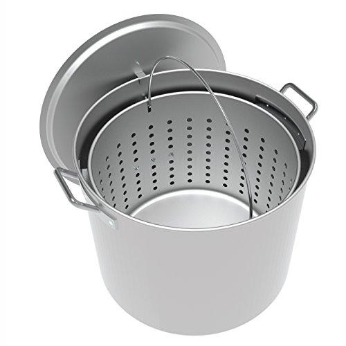 - LoCo Cookers LCPT100 Aluminum Boiling Pot, 100 Quart, Silver