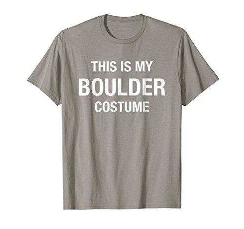 Halloween My Boulder Costume Gray Shirt Funny