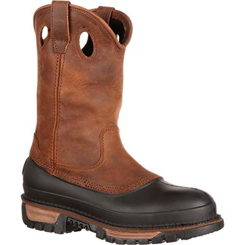Toe Steel Dog Mud - Georgia Men's M Muddog Work Boot, Brown, 13 M US