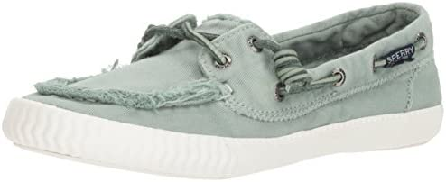 050 M US White SPERRY Womens Sayel Away Washed Sneaker