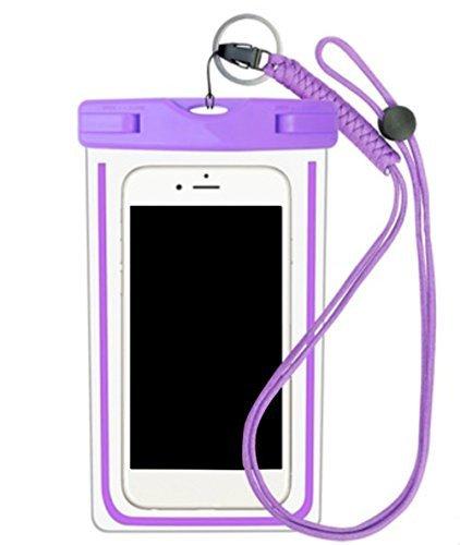 Da.Wa Funda Móvil Impermeable Universal Bolsa Sumergible Móvil Transparente Sensible al Tacto para No Más de 6 Pulgadas Teléfono Móvil - con ...