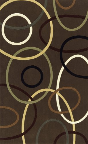 Momeni Rugs ELEMTEL-09BRN5080 Elements Collection, 100% New Zealand Wool Hand Carved Contemporary Area Rug, 5' x 8', (Momeni Elements Collection)