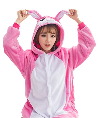 Bunny Rabbit Halloween Animal Pajamas Homewear Lounge Wear (S)