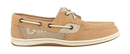 Sperry Top-Sider Women's Koifish Mesh Boat Shoe, Linen, 8 Medium US