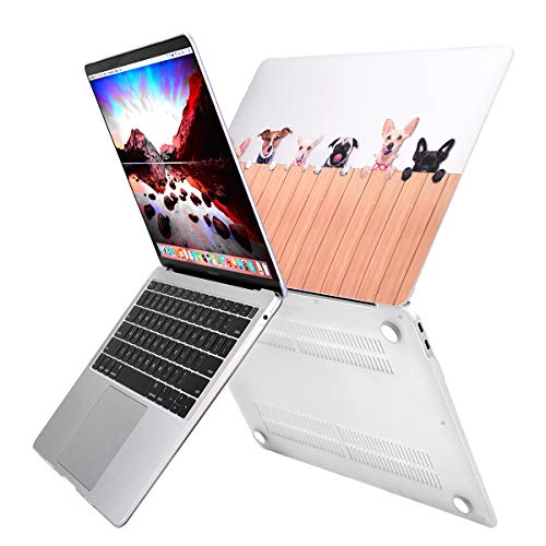 MOSISO MacBook Air 13 inch Case 2020 2019 2018 Release A2179 A1932 Retina Display, Plastic Pattern Hard Shell & Keyboard Cover & Screen Protector Only Compatible with MacBook Air 13, Cute Dog