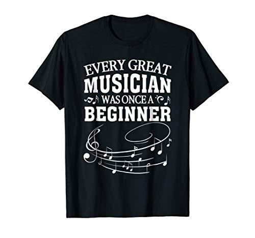 Funny beginner music note musician piano teacher tshirt
