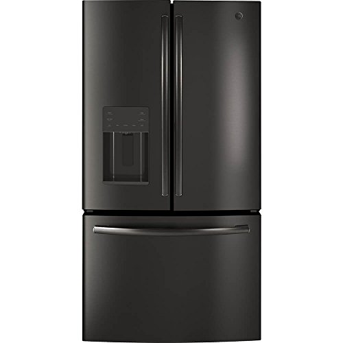 GE 25.6 Cu.Ft. Black Stainless French Door Refrigerator