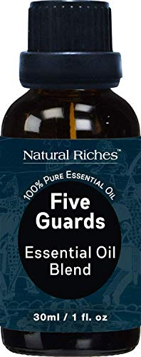 (Five Guards Immunity Synergy Blend Health Shield, Aromatherapy Essential Oils 30ml Pure Therapeutic Grade Natural Germ Fighter Clove Cinnamon Lemon Rosemary Eucalyptus Oil from tales of French Thieves)