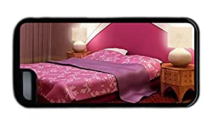 Funny iphone 5C case stylish Purple style bedroom TPU Black for Apple iPhone 5C