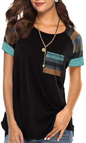 PINSV Sleeve Blouse Striped Patchwork product image