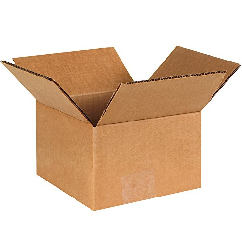 BOX USA B664100PK Corrugated Boxes, 6'' L x 6'' W x 4'' H, Kraft (Pack of 100) by BOX USA