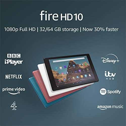 Fire HD 10 Tablet | 10.1″ 1080p Full HD display, 32 GB, Black – with Ads (Previous Generation – 9th)