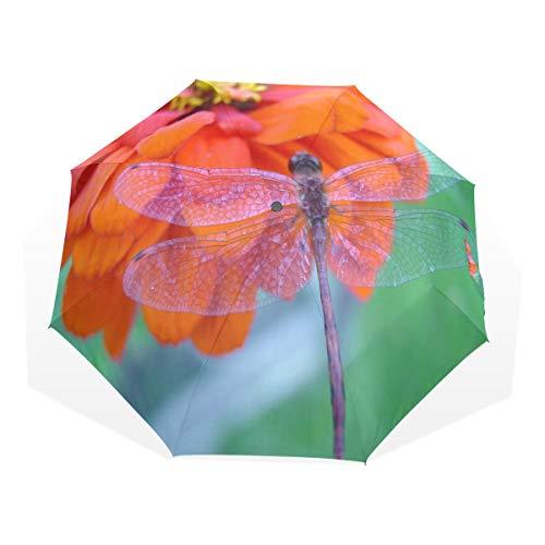 HangWang Umbrella Dragonfly Travel Golf Sun Rain Windproof Umbrellas with UV Protection for Kids Girls Boys