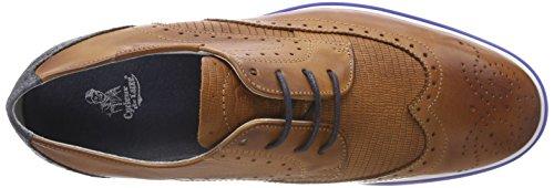 Cycleur de luxe Herren Pulsano Sneaker Braun (Cognac/Denim)