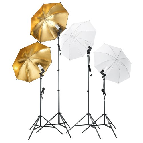 Square Perfect 2814 Professional Quality Photography Studio Lighting and Background Kit with Muslin Backdrops