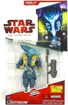- Hasbro Star Wars Clone Wars 2009 General Whorm Loathsom Action Figure CW15