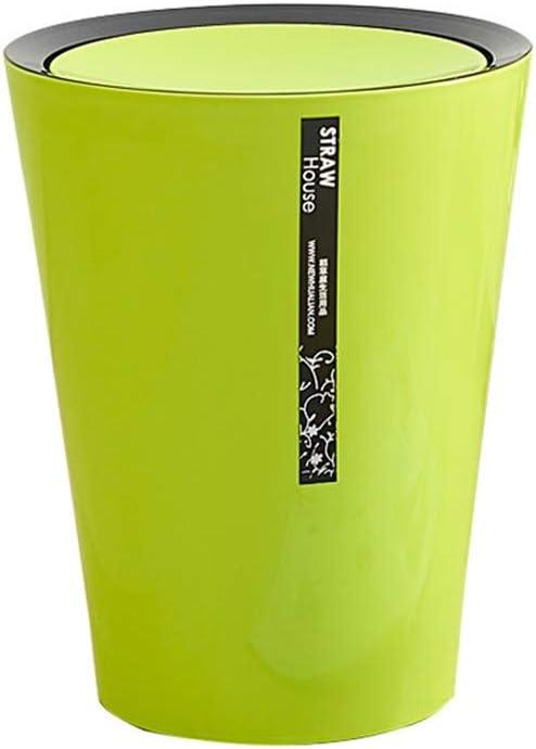 ZPWSNH - Cubo de basura para el hogar, guantera, redonda, tapa de batido de almacenamiento, cubeta de cocina, dormitorio, cubo de basura multicolor opcional