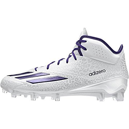 Adidas Adizero 5-sterren 5.0 Mid Heren Voetbal Cleat Wit-paars