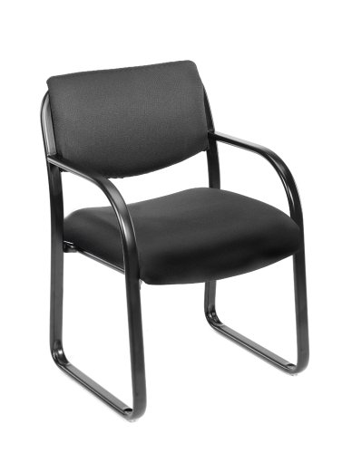 Boss Office Products B9521-BK Fabric Guest Chair in Black