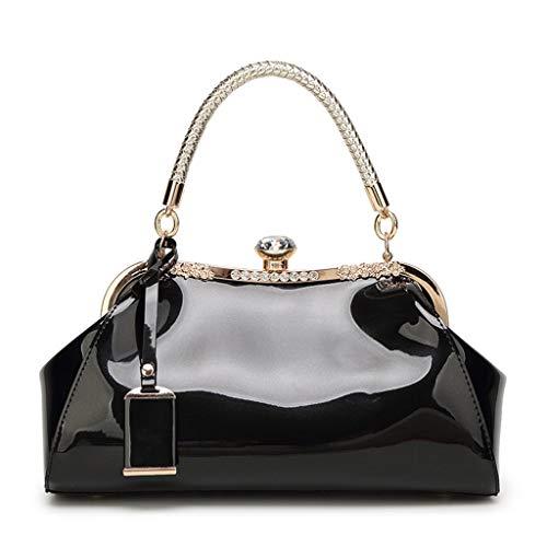 Sample9 Women Handbag Shoulder Messenger Satchel Crossbody Ladies Tote Bag Patent Leather Evening Clutch Purse - ()