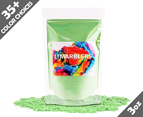 Marblers Powder Colorant 3oz (85g) [Jade Green] | Pearlescent Pigment | Tint | Pure Mica Powder for Resin | Dye | Non-Toxic | Great for Paint, Concrete, Epoxy, Soap, Nail Polish, Cosmetics