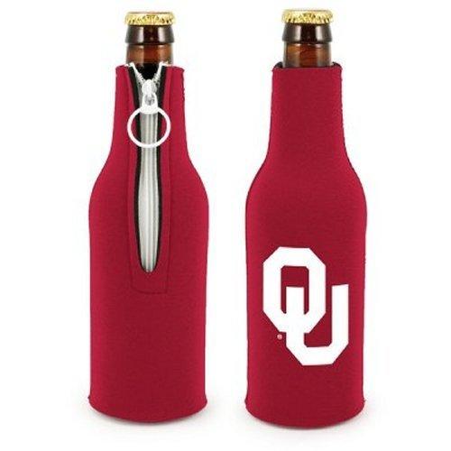 NCAA Oklahoma - Neoprene Bottle Suits (2) | OU Sooners Bottle Insulators with Zipper - Set of 2