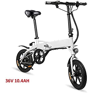 41RgaRod4SL. SS300 Drohneks Ebike Pieghevole elettrica, Bici con Motore da 250 W, velocità Massima 25 km/h e Tre modalità di Lavoro, carico…