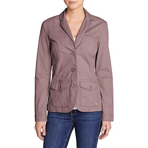 Nylon Vintage Coat - Eddie Bauer Women's Legend Wash Stretch Blazer, Vintage Rose Regular 14