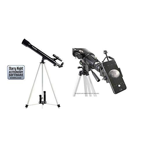 """تلسکوپ رفلکتور Celestron PowerSeeker 50 AZ با آداپتور اصلی تلفن هوشمند 1.25 """"اکتشافات خود را ضبط کنید"""