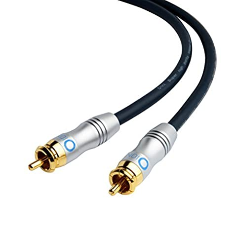 Onyx PRO Series Subwoofer Cable (12 Feet) - Dual Shielded with Gold Plated RCA to RCA Connectors (Shielded Woofer)