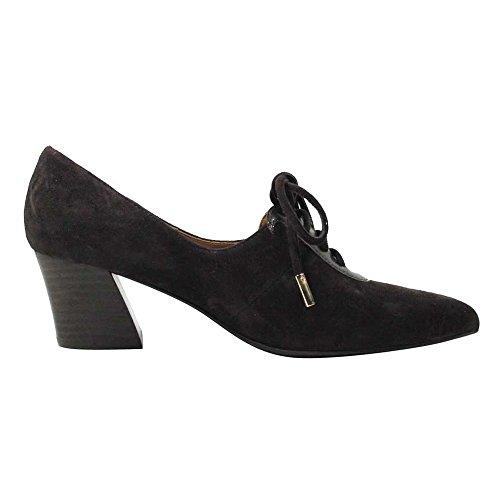 J. Renee Ellam Womens Oxford Chocolate Leather