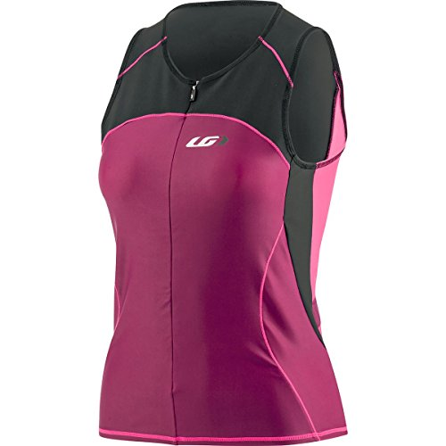 Louis Garneau Comp Sleeveless - Women's Black/Pink/Purple, XXL Louis Garneau Sleeveless Jersey